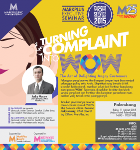 Flyer MarkPlus WOW SEA 2015: Palembang